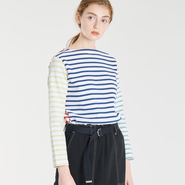 【ORCIVAL】コットンロード フレンチバスクシャツ(HARLEQUIN) WOMEN/ビショップ(レディース)(Bshop)