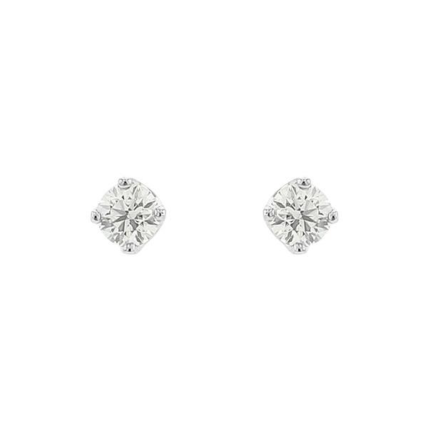 プラチナ ダイヤモンド(0.1ct) ピアス/ブルーム(BLOOM)「不良品のみ返品を承ります」