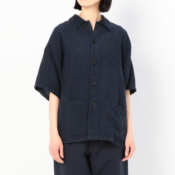【VETRA】オーバーサイズ リネンシャツジャケット WOMEN/ビショップ(レディース)(Bshop)