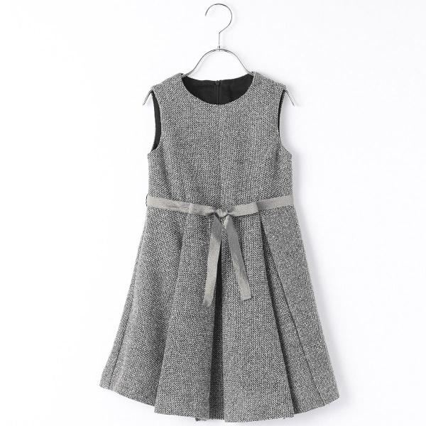 からみ織りツィードドレス/コムサフィユ(COMME CA FILLE)