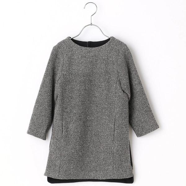 からみ織りツィードプルオーバードレス/コムサフィユ(COMME CA FILLE)