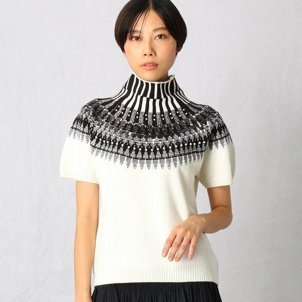 【ノルディック柄】 ビーズ刺繍 ニットプルオーバー/コムサマチュア(Comme ca Mature)