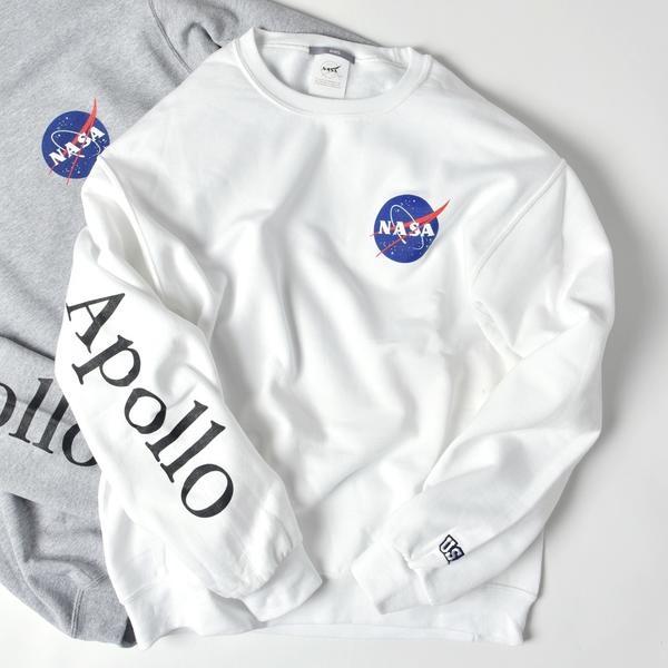 SU: 【NASA】GRAPHIC クルーネック スウェット/シップス(メンズ)(SHIPS)