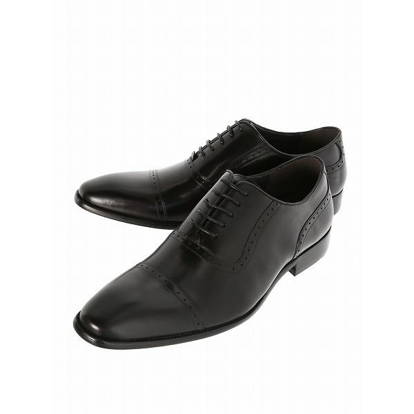 ワキシーカーフストレートチップビジネスドレスシューズ/アラウンド ザ シューズ(around the shoes)