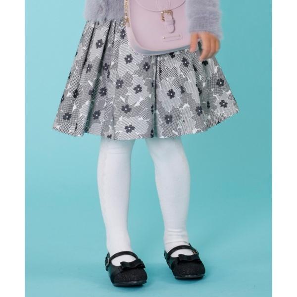 【130~160cm】フラワータック スカート/組曲 キッズ(KUMIKYOKU KIDS)