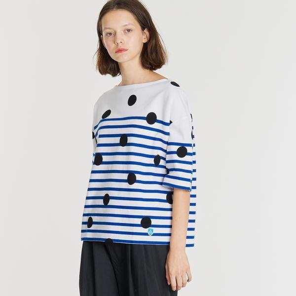 【ORCIVAL】ラッセルフレンチセーラーハーフスリーブTシャツ DOT WOMEN/ビショップ(レディース)(Bshop)