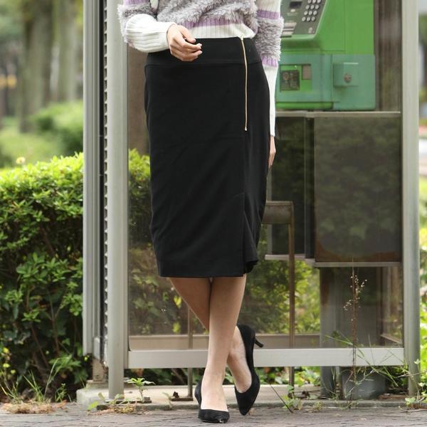 両面起毛ジップタイトスカート/ビッキー(VICKY)