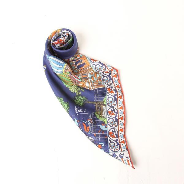 ~Kinloch~ ロシアンパレススカーフ/ビアッジョブルー(Viaggio blu)
