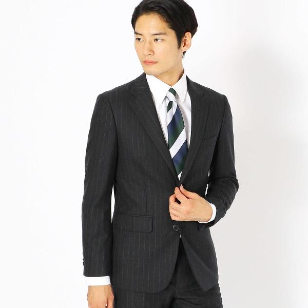 《セットアップ》コーデュラナイロン ミルドストライプ スーツジャケット/コムサイズムメンズ(COMME CA ISM)