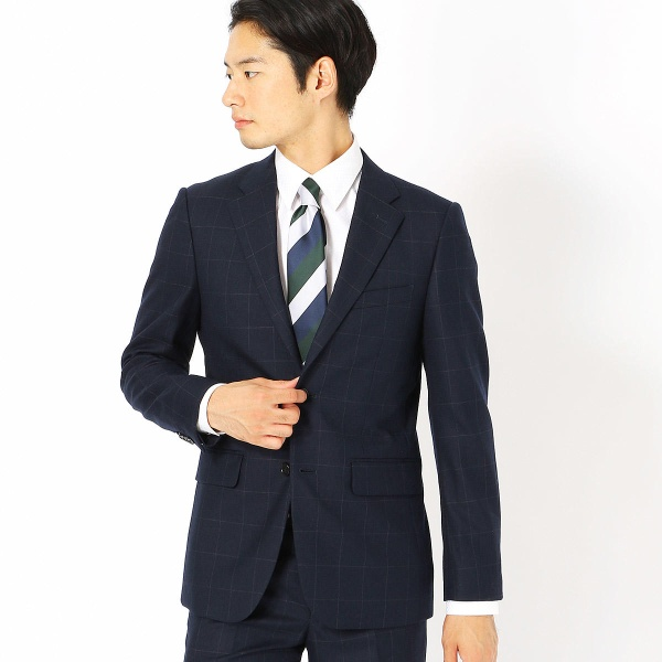 《セットアップ》コーデュラナイロン ミルドウィンドウペン スーツジャケット/コムサイズムメンズ(COMME CA ISM)