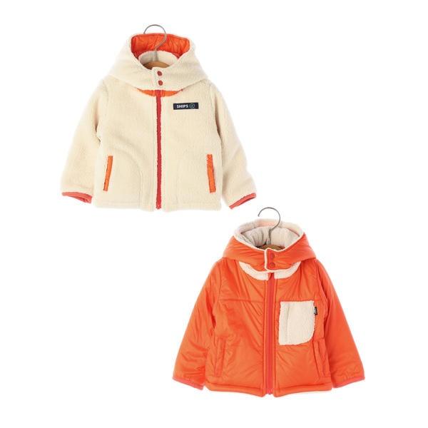 SHIPS KIDS:ボア リバーシブル フード ジャケット(80~90cm)/シップス キッズ(SHIPS KIDS)