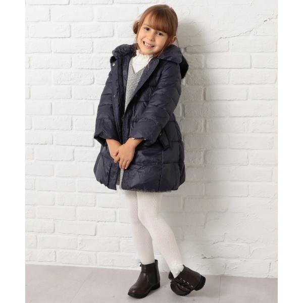 【120~140cm】タフタロングダウン コート/組曲 キッズ(KUMIKYOKU KIDS)