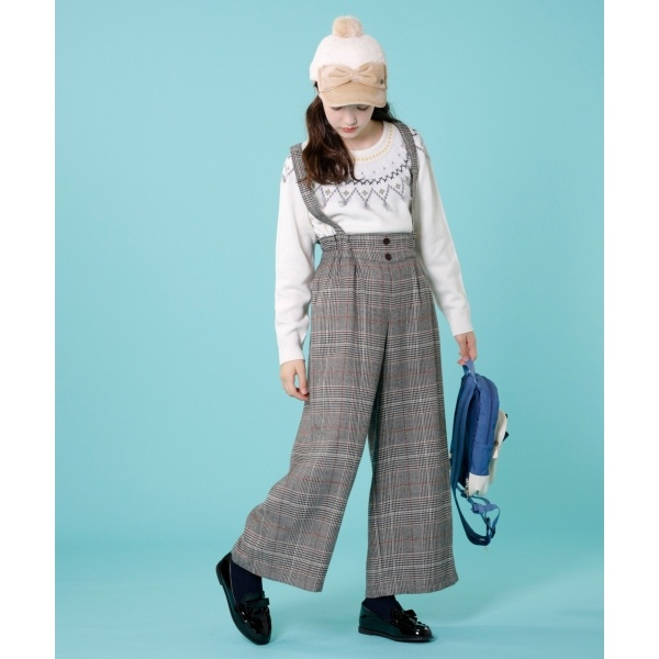【150~170cm】ウーリッシュワイド パンツ/組曲 キッズ(KUMIKYOKU KIDS)