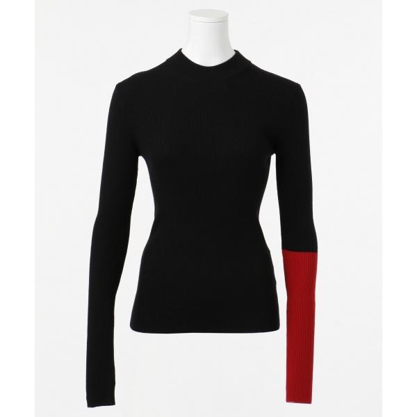 【カラーブロック】ファインメリノリブ ニット/カルバン・クライン ウィメン(Calvin Klein women)