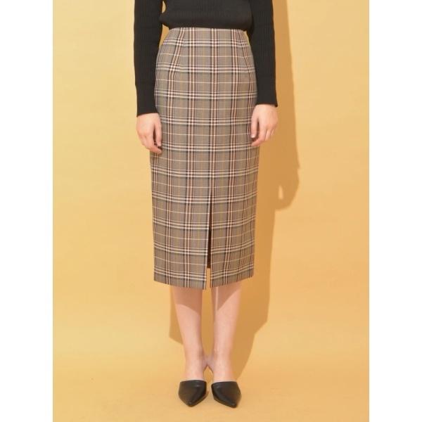 バレンシアチェックタイトスカート ソフィラ sophilanwN0ZOX8Pk