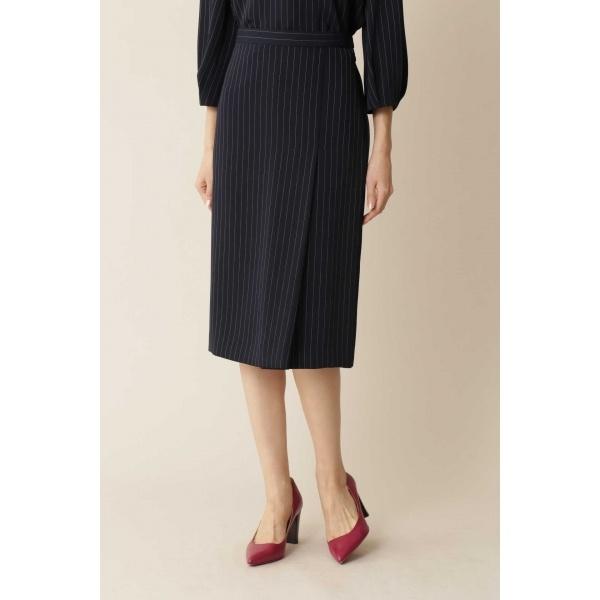 ◆大きいサイズ・洗える◆ツイルストレッチタイトスカート/ヴァンドゥー・オクトーブル(Lサイズ)(22 OCTOBRE)