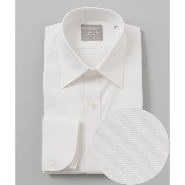 【形状安定】【スリムフィット】PREMIUMPLEATS ドレスシャツ/五大陸(gotairiku)