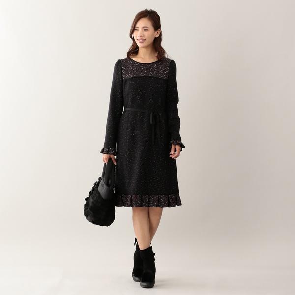 ★★カラーノットツイードドレス/トゥービーシック(TO BE CHIC)