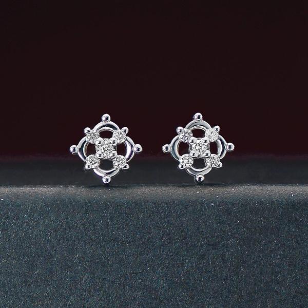 【限定ベアBOX付き】K14・K10 ダンスダイヤモンドピアス 0.04ct/テイクアップ ピュア(TAKE-UP Pure)