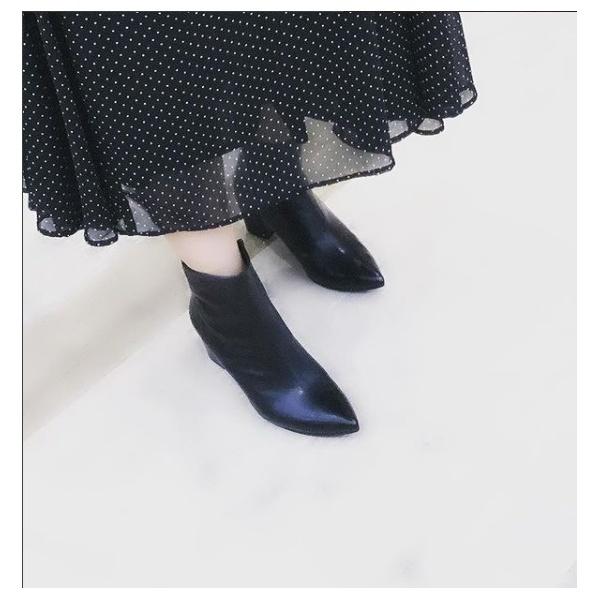 【works 2018秋冬新作・大きいサイズ・ヒール高6.5cm】チャンキーヒールショートブーツ/ワークス(works)