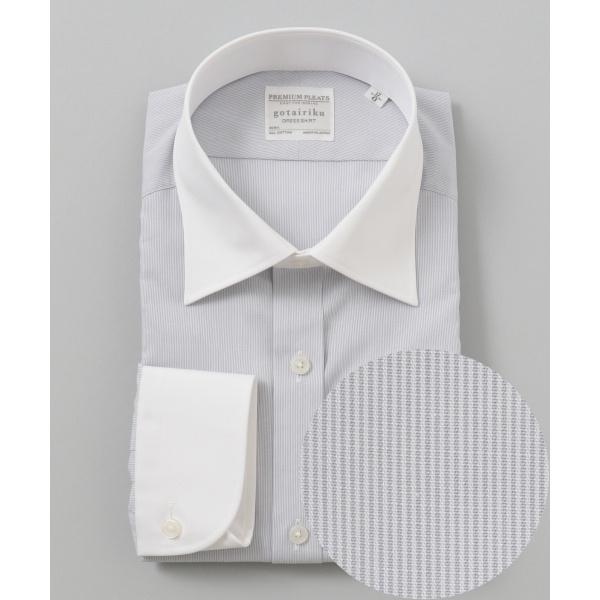 【形状安定】【セミワイド】PREMIUMPLEATS ドレスシャツ/五大陸(gotairiku)