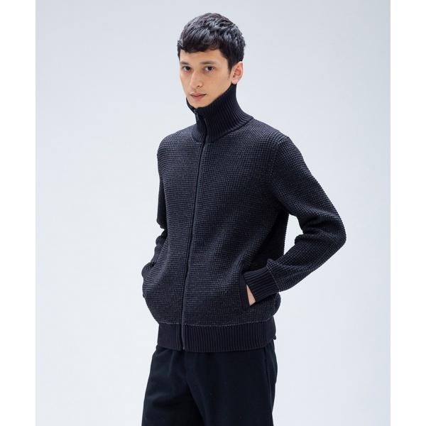 【2018AW新作】バイカラーワッフル ブルゾン ニット/カルバン・クライン メン(Calvin Klein men)