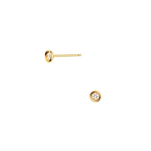K18YG ダイヤモンド ベゼル ピアス/VA ヴァンドーム青山(VAvendomeaoyama)「不良品のみ返品を承ります」