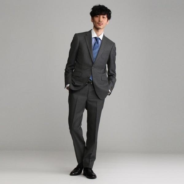 Mスーツ(【J∞QUALITY】シャドーストライプシングルスーツ[メンズ スーツ ウール 通年 撥水 防汚])/タケオキクチ(TAKEO KIKUCHI)
