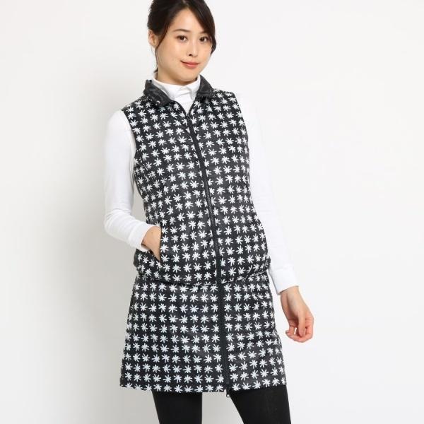 Lジャケッ(【蓄熱】 雪柄 ベスト レディース)/アダバット(レディス)(adabat(Ladies))