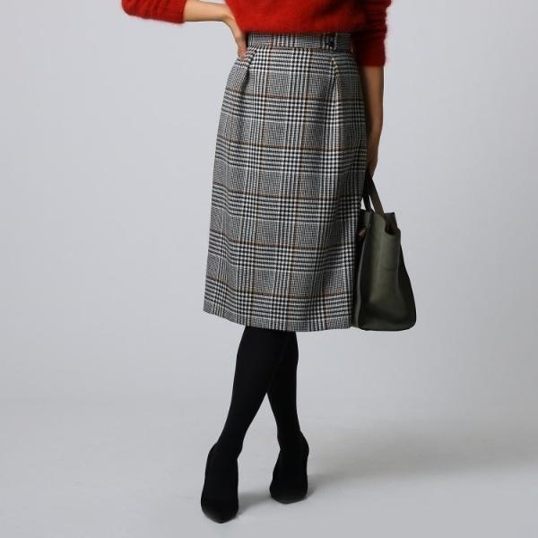 品質は非常に良い ナローチェック柄スカート/アンタイトル(UNTITLED), ごようきき。クマぞう e13dbdd7