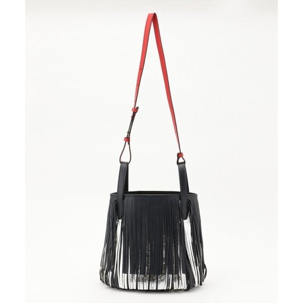 【フリンジ】Wフリンジバケツ型ショルダーバッグ/カルバン・クライン ウィメン(Calvin Klein women)