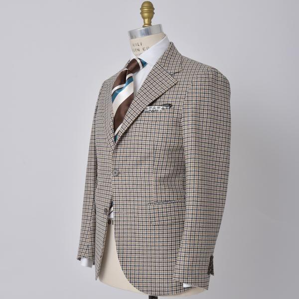 メンズ 秋冬 【中古】 ツイードジャケット MOON BUSINESS EXPERT イギリス製生地 新品 ウール ビジネスエキスパート
