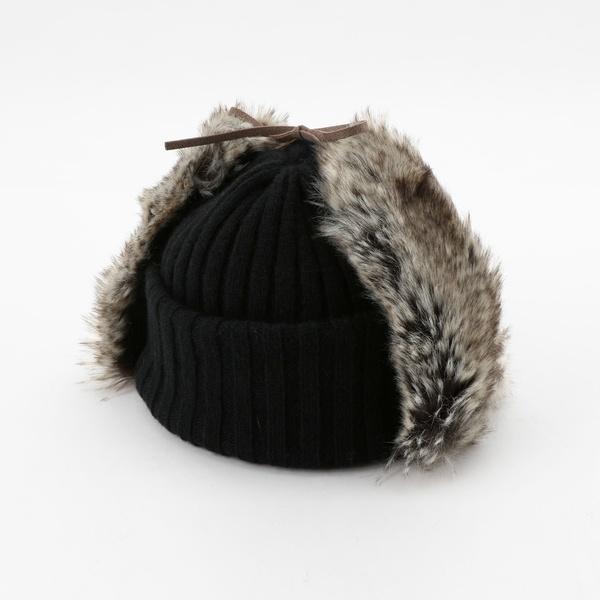 【Nine Tailor】ファー付きリバーシブルニット帽/フレディ&グロスター メンズ(FREDY&GLOSTER)