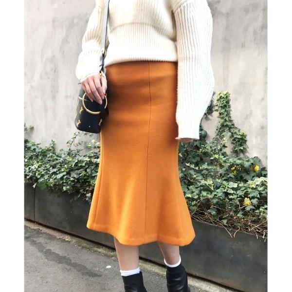 ◆マーメードラインウールスカート/アクアガール(aquagirl)