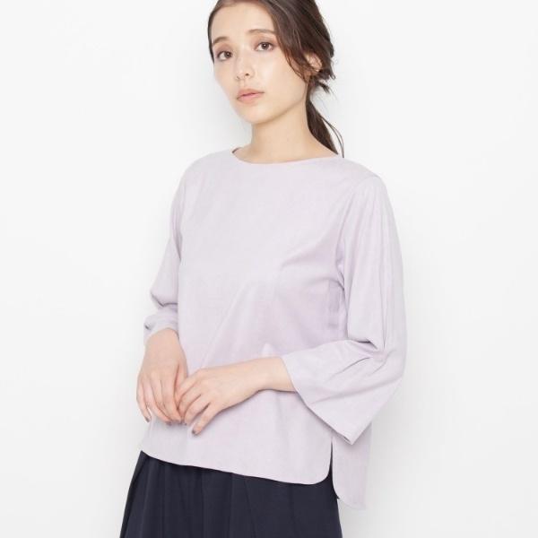 Lブラウス(◆【洗える】ソフトスェードシャツ)/エアパペル(Airpapel)