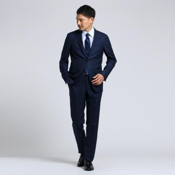 Mスーツ(【PNJ】紡ぎカラーストライプ2Bスーツ[ メンズ スーツ ストライプ ])/タケオキクチ(TAKEO KIKUCHI)