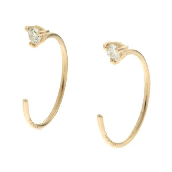 アクセ類(ダイヤモンド3つ爪 変形スタッドピアス)/ココシュニック(COCOSHNIK)「不良品のみ返品を承ります」