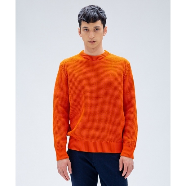 【2018AW新作】バイカラーワッフル ニット/カルバン・クライン メン(Calvin Klein men)