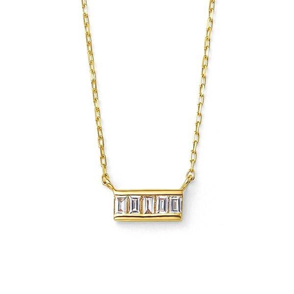 K10 イエローゴールド ダイヤモンド ネックレス/ブルーム(BLOOM)