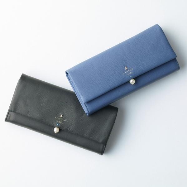 シャペル パール付きフラップ長財布/ランバンオンブルー(LANVIN en シャペル Bleu), 人気カラーの:2305a16d --- officewill.xsrv.jp
