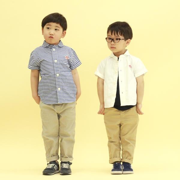 【DANTON】キッズ 半袖丸襟シャツ YOX/ビショップ(キッズ)(Bshop)