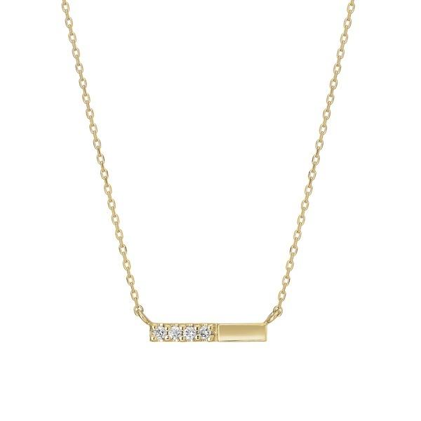 K10 ダイヤモンド 横型バー ネックレス( YG)/テイクアップ ピュア(TAKE-UP Pure)