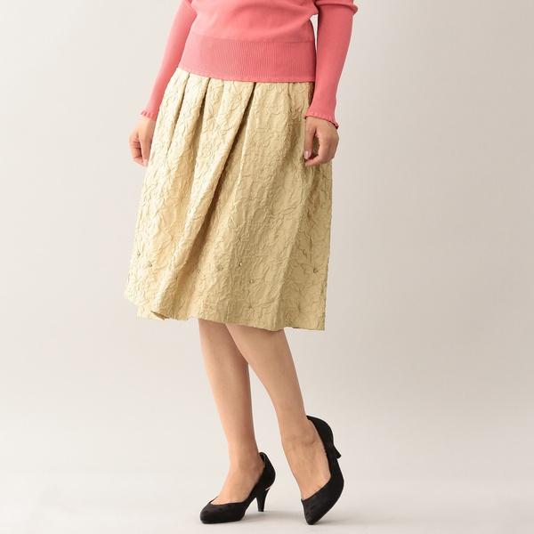 *25ans掲載*【SWAROVSKI】シュリンクフラワースカート/トゥービーシック(TO BE CHIC)