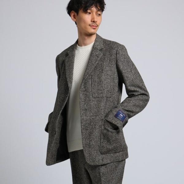 ツィードヘリンボン ジャケット Fabric by MOON[ メンズ ジャケット ヘリンボン セットアップ ]/タケオキクチ(TAKEO KIKUCHI)