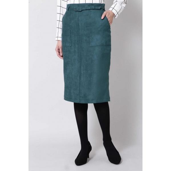 ポケット付きフェイクスエードタイトスカート/ボッシュ(BOSCH)