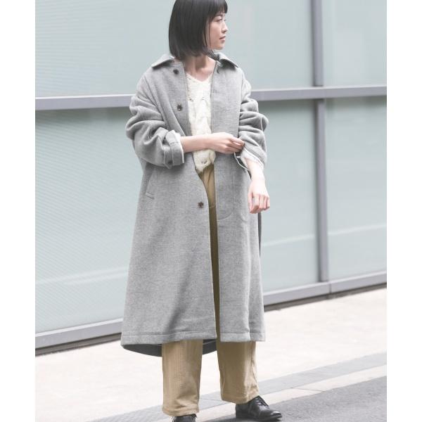 春夏新作モデル レディスコート(ウールカシミヤロングコート)/かぐれ(kagure), ホウジョウチョウ b4d4ed83