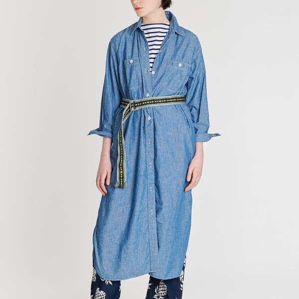【orSlow】〈別注〉ワークシャツドレス WOMEN/ビショップ(レディース)(Bshop)