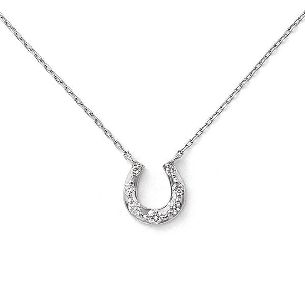 プラチナ ダイヤモンド 馬蹄モチーフ ネックレス/ブルーム(BLOOM)