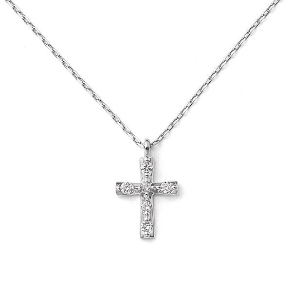 プラチナ ダイヤモンド クロスモチーフ ネックレス/ブルーム(BLOOM)