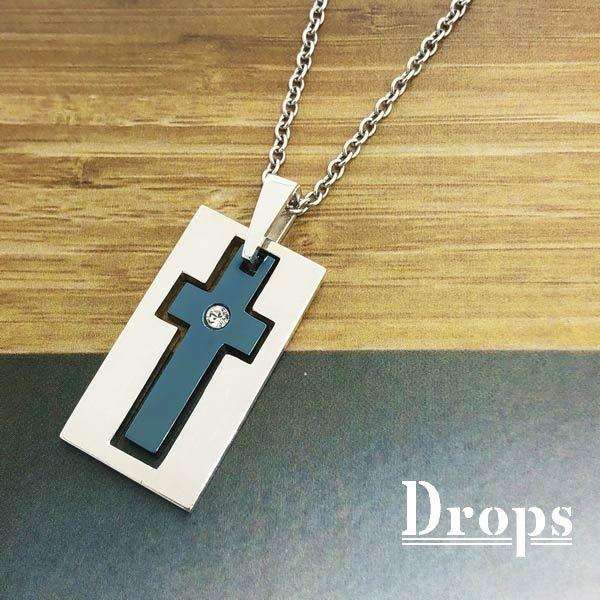 【ネックレス】フレームインクロス/ドロップス(Drops)